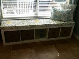 Ikea Storage Bench Hack Diy Window Bench Add Double Batting To Cushion To Make It More