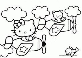 kitty drawings coloring