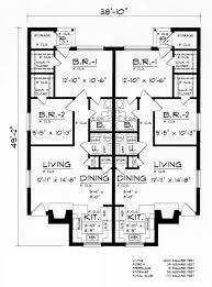 duplex plan chp 51644 at coolhouseplans com