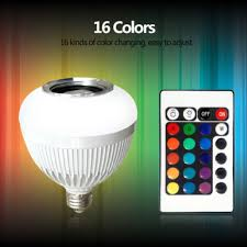 led light bulb speaker wireless bluetooth smart led light bulb music audio remote speaker