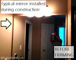 framing bathroom mirror with molding budget barbie framed bathroom mirror with molding trim
