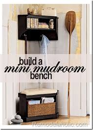 small mudroom bench remodelaholic diy entryway mudroom with cubbies for under 150