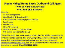 Sample Resume For Call Center Agent Without Experience Philippines by Urgent Hiring Call Center Bpo Albay Philippines