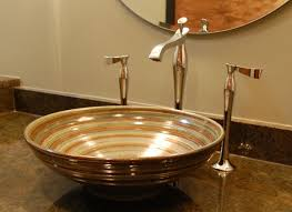 bathroom ideas bathroom sink ideas with rounded vessel sink and