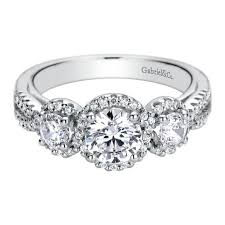 engagement ring setting diamond halo engagement ring setting by gabriel co