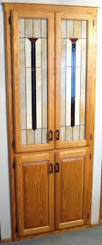 built in china cabinet designs built in china cabinet built in oak china cabinet with stained glass