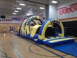 inflatable game rentals vancouver velcro obstacle course