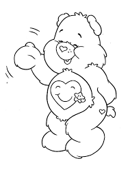 care bears colouring kids happy colouring