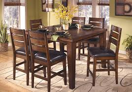 modern glass dining table quilted larchmont square counter height dining table and 6 chairs for
