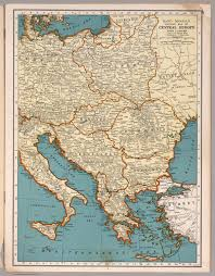 Historical Maps Of Europe by Rand Mcnally Popular Map Of The Central Europe David Rumsey