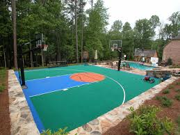Backyard Basketball Court Ideas by View Basketball Court Systems And Gallery Cba Sports