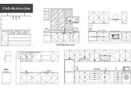 cuisine dwg kitchen elevation dwg cad blocks free