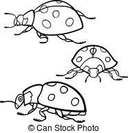 clip art vector insects bugs coloring book