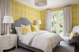 Yellow Grey And White Bedding Gray And Yellow Bedroom Contemporary Bedroom Andrew Howard