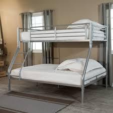 White Metal Futon Bunk Bed Bedroom Furniture Size Simple Chrome White Metal Frame