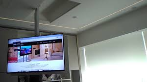 tv a soffitto tv moving mfl staffe tv motorizzate da soffitto