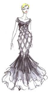 image result for rendering drawing clothes ball gowns and gowns