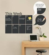 weekly chalkboard calendar wall decal weekly chalkboard calendar wall decal