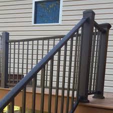 prestige aluminum adjustable stair rail kit decksdirect