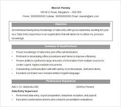 Summary Examples For Resume by Resume Objectives U2013 46 Free Sample Example Format Download
