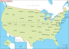 map usa detroit where is detroit located detroit location in us map