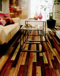 Rustic Looking Laminate Flooring This Room Uses The Same Wood Flooring In A Mix Of 3 Different