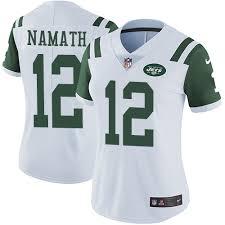 nfl lights out black jersey joe namath men s elite lights out black jersey nike nfl new york