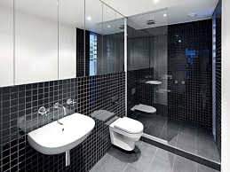 Modern Interior Design Of An Industrial Style Home In Melbourne - Black bathroom design ideas