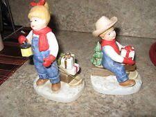 Home Interior Denim Days Figurines by Vintage Retired Denim Days
