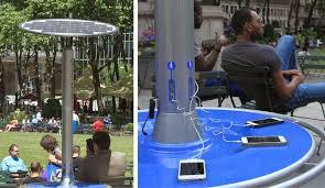 bryant park blog solar powered charging stations land in bryant park
