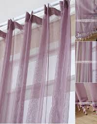 and romantic dark purple sheer curtains