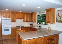 kitchen backsplash with oak cabinets and white appliances oak cabinets updated eclectic kitchen san francisco