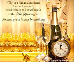 New Year Invitation Card Sending You A Hearty Invitations New Year Party Invitations Card