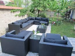 canapé 14 places salon de jardin 14 places en résine tressée canapé modulable tripoli