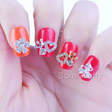 3 48 5pcs dazzling rhinestoned heart crown bow cross design 3d