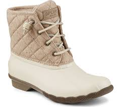 womens boots quilted womens sperry top sider saltwater quilted wool duck boot replaced
