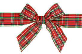 plaid ribbon bow stock image image 51952477