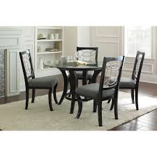 five piece dining room sets steve silver cayman 5 piece glass top dining set black hayneedle