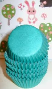 teal green solid mini cupcake liners muffin bakers bulk 500 pcs