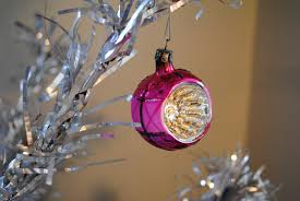 a gray vintage ornaments
