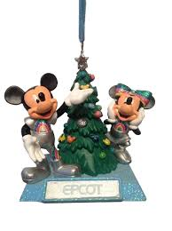 ornament epcot mickey minnie mouse