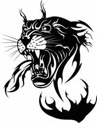 dark black outline tribal panther tattoo in 2017 real photo