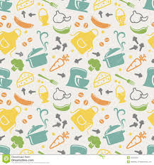 Kitchen Background Kitchen Seamless Pattern Vector Background Stock Vector Image