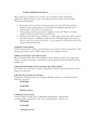 Cover Letter For Scholarship Sample Resume For Scholarship Sample Resume For Your Job Application