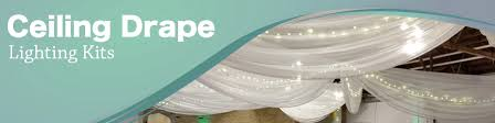 Ceiling Drapes With Fairy Lights Wedding Ceiling Drapes With Lights Event Decor Direct