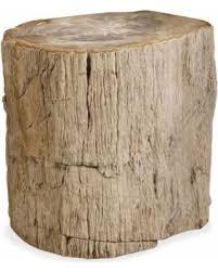 petrified wood end table bargains on inez industrial loft petrified wood side end table
