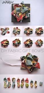 gift bow diy diy gift wrapping ideas how to make a gift bow out of fabric