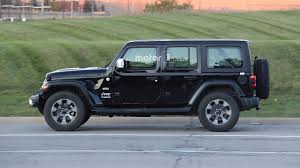 jeep truck 2018 spy photos entire 2018 jeep wrangler lineup photographed on road 40 images