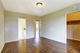 Hardwood Floors In Bathroom Empty Master Bedroom Interior With Hardwood Floor View Of