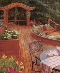 Cedar Deck Bench Making The Most Of Your Backyard Deck